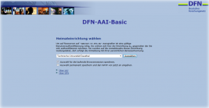"DFN-Weblogin (* WAYF - ""Where you are from""; Lokalisierungsdienst)"